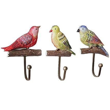 Asdfooo Colgador para pájaros, decoración de Pared de Resina ...