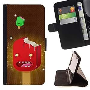 Momo Phone Case / Flip Funda de Cuero Case Cover - Personajes helado arte Dibujos animados Red Stars - LG Nexus 5 D820 D821