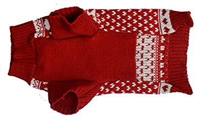 Classic Red Snowflake Pet Clothes Sweater for Dogs