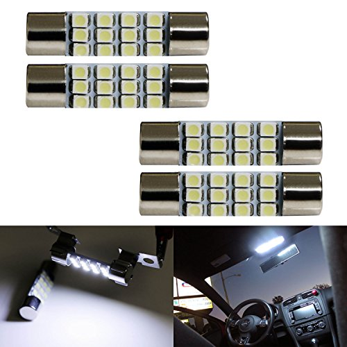 ijdmtoy 4 xenon white 12 smd 578 579 572 211 2 212 2 214 2 led replacement bulbs for car. Black Bedroom Furniture Sets. Home Design Ideas