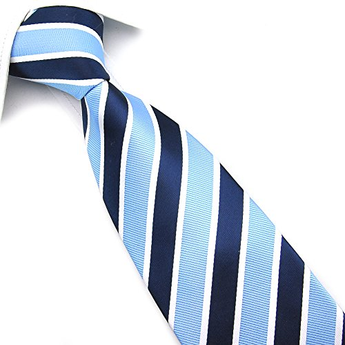 Navy PenSee amp; Silk Various Blue Necktie Stripe Mens Colors Light Tie BBPnqwRxvO