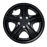 98 buick park avenue rim cap - TuningPros WSC-510B15 Hubcaps Wheel Skin Cover 15-Inches Matte Black Set of 4