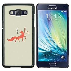 EJOOY---Cubierta de la caja de protección para la piel dura ** Samsung Galaxy A5 A5000 ** --Fox Foxy fumadores Arte Red Tail Bosque Animal