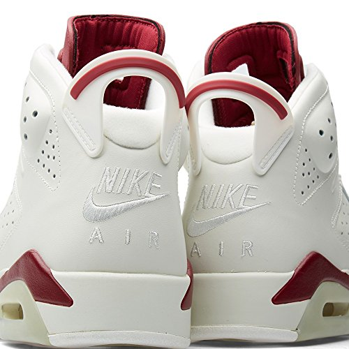 Nike Air Jordan 6 Retro, Men's Trainers Off White, New Maroon