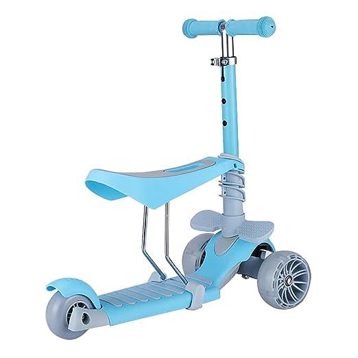 Scooter Patinete con Pedal Ancho para niños, Desmontable ...