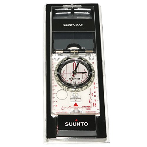 - Suunto - High Grade Steel MC-2 Pro Compass with Mirrored Sighting, Adjustable Declination, and a Clinometer