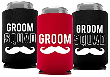 36c01ddcdc Your Dream Party Shop Groom and Grooms Squad Bachelor Party Can Coolers,  Set of 12
