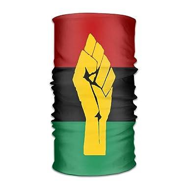 Amazon.com: NDJHEH Bandana unisex negra con bandera africana ...