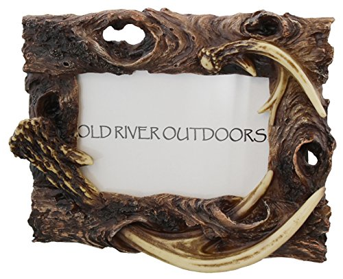 Rustic Antler / Driftwood 4x6 Picture Photo Frame Deer Rustic Frame