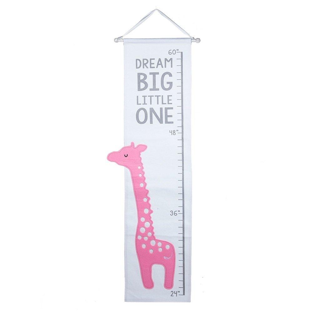 Midwest-CBK Giraffe Applique Growth Chart (Pink Giraffe)