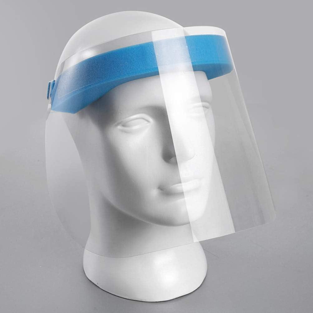 Exceart 2 Pezzi di Visiera Trasparente Tutto Lo Scudo Protettivo per Gli Occhi E La Testa Protettiva Copricapo Cappello Protettivo per Lavoro Allaperto Blu Rosso