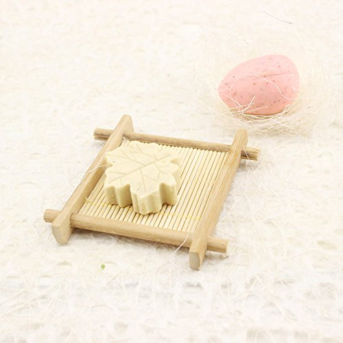 Elevin(TM)  Natural Bamboo Wood Bathroom Shower Soap Tray Dish Storage Holder Plat