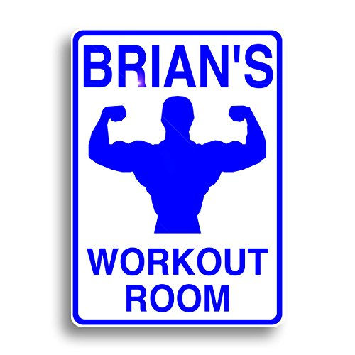 Workout room sign personalized for your home gym and