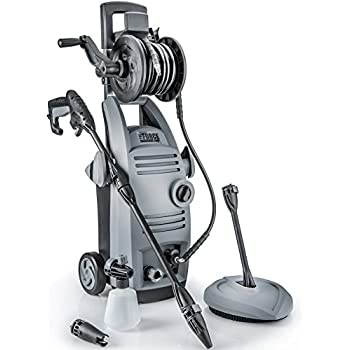 Powerhouse International - The Force 2000 - 1.6 GPM 2000 PSI Electric Pressure Washer with Spinning Patio Cleaner, Integrated Hose Reel, Soap/Foam Dispenser