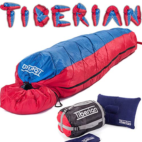 Sleeping Bag For Adults And Kids, 3-4 Season, DoE Awards Mummy Style -...