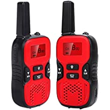 Walkie Talkies for Kids 2 Way Radios Walky Talky Max 3.7 Mile Long Rang Interphone for Outdoor Camping Hiking Activities (1 Pair)