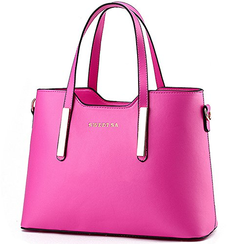 Handle Shoulder Handbag Rosy Bag for Bags Women PU Tote Leather 5XxwSqCF