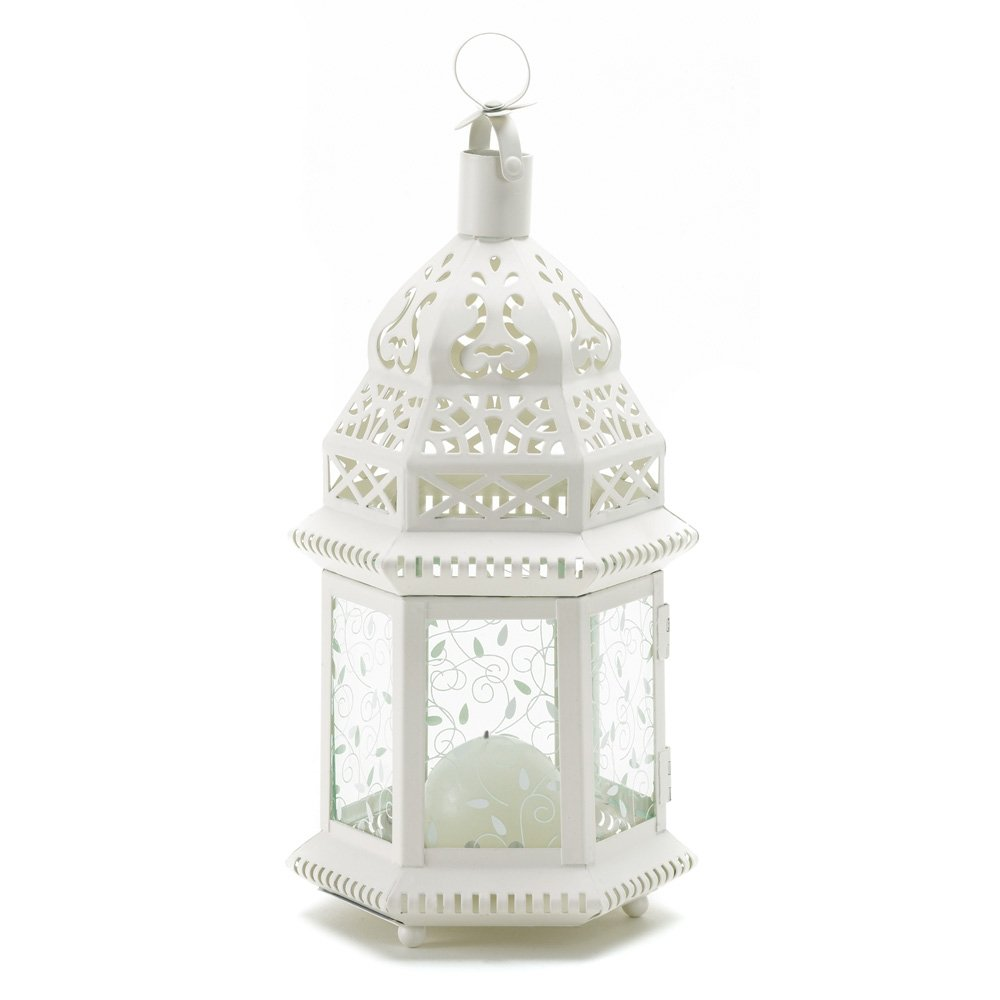 Mid White Moroccan Lantern World Products RR SLC-38465-V1