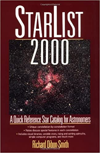 StarList 2000: Quick Reference Star Catalog for Astronomers ...