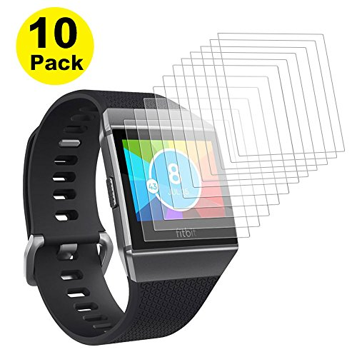 Fitbit Ionic Screen Protector, [Value Pack][10-Pack] TAKEN ONE Full Coverage Screen Protector for Fitbit ionic HD Clear Anti-Bubble Film