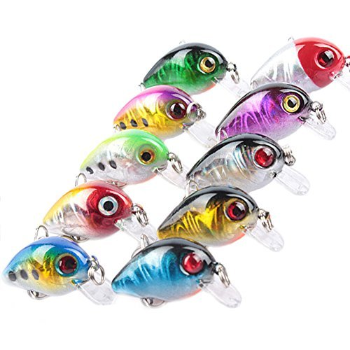 YX 10pcs/lot Crankbaits Fishing Lures Shallow Diving Topwater Lures 3cm/1.18''