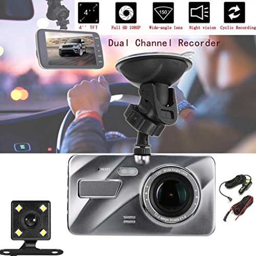 Dash Ss Lens - 1080P HD Car DVR Dual Lens Camera Video Recorder Rearview Dash Cam Night Vision