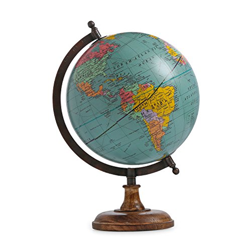 Handmade Word Map Antique Iron Stand Decorative Plastic Globe Handmade Stand Table Glove Word Map ()