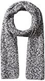 Williams Cashmere Men's 100% Cashmere Jersey Marl Scarf, Black Marl, One Size