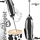 Product review for Turbo Milk Frother and Frappe Maker with SUPER POWERFUL motor for Bulletproof Coffee Drinks Protein Shakes Matcha Tea Cappuccino Frappucino and More by The Brewologist (Chrome, Handheld electric)