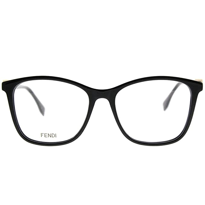 8f582f1591 FENDI Eyeglasses FF 0300 0807 Black at Amazon Men s Clothing store
