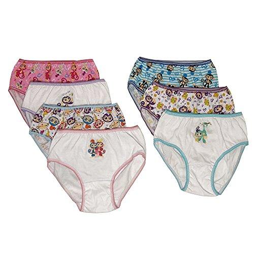 Handcraft Little Girls' 7-Pack Underwear Panty, Multi, 4