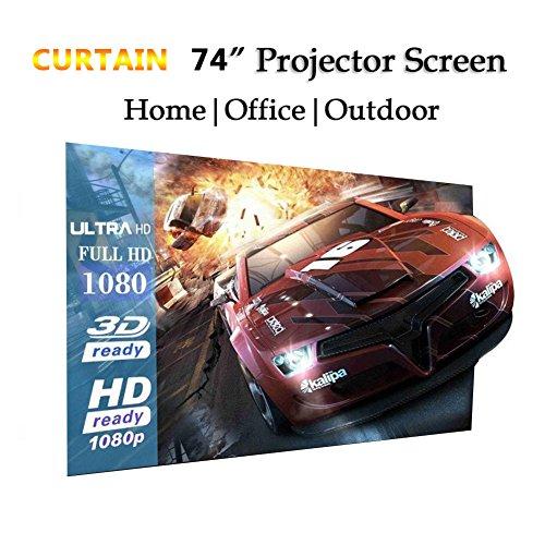Cewaal Haihuic Portable Tabletop Projector Screen, 152cm * 112cm 74'...