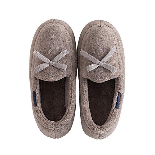 Pantoufles D'Hiver Mignonnes de DWW Chaussures Maison Coton B Glissement de Chaudes Chaussons Mesdames XxnqIEaO0a
