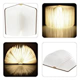 Book Lamp Led Book light Wooden USB Rechargeable Magnetic Folding Booklight Night lamp 2500mAh Lithium Battery Decorative Table Lamp Warm White (warm white)