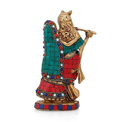 CraftVatika Brass Radha Krishna Statue Beautiful Hindu Divine Love Couple Sculpture Home Décor Gift by CraftVatika (Image #3)