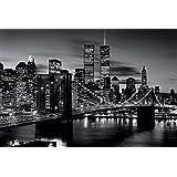Brooklyn Bridge - Black & White Poster Print (36 x 24)
