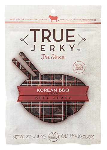 True Jerky, The Sinsa - Korean Flavored Barbecue Beef Jerky (Spicy), 2.25 Ounce (Pack of ()
