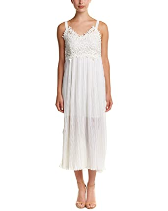 aec532f1493be8 Amazon.com  French Connection Womens Posey Lace Midi Dress