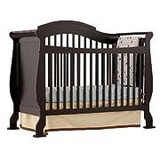 Stork Craft Valentia Convertible Crib, Black