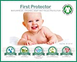ORGANIC Cotton 100% Waterproof Fitted Crib Protector - Non-Toxic, NO