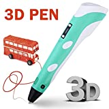 3D Printer - RANDTK Intellgent 3D Printer Pen of 2017 Newest Version with LCD Screen, 3D Drawing Pen with 3 X 3m ABS Filament for Free