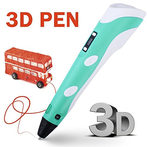 Price comparison product image RANDTK Intellgent 3D Printer Pen of 2017 Newest Version with LCD Screen,  3D Drawing Pen with 3 X 3m ABS Filament for Free