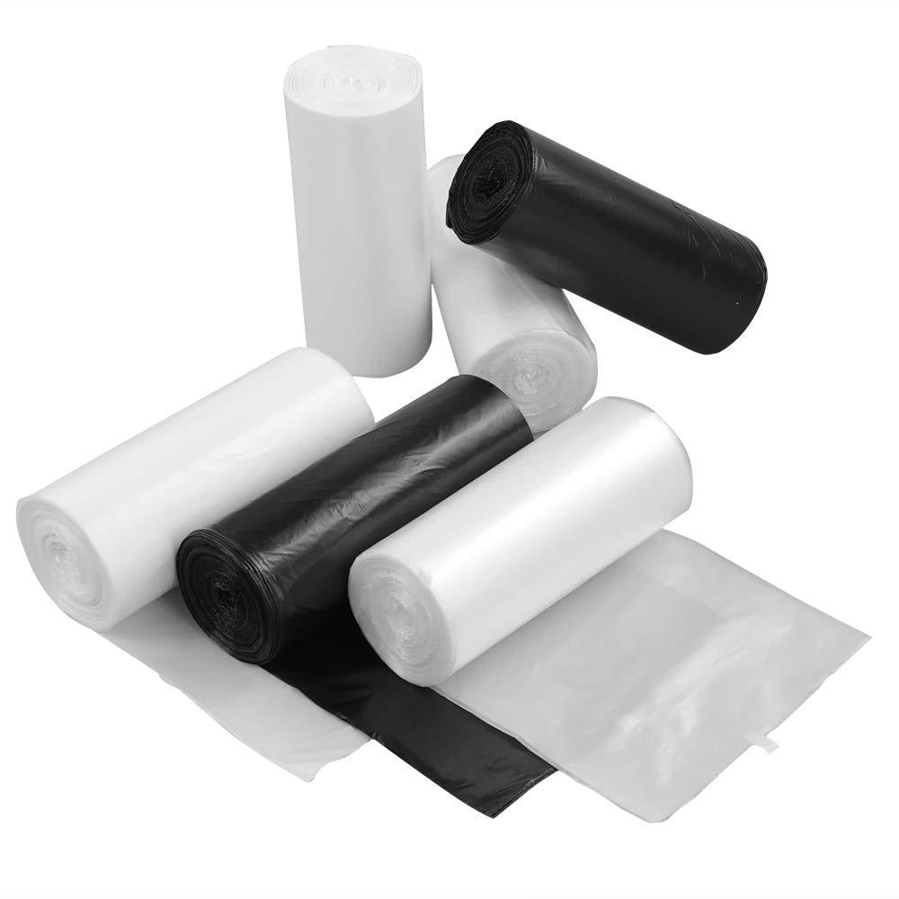 Ikando - Bolsas de Basura de Color Blanco y Negro ...