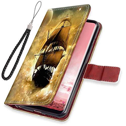Galaxy S8 (5.8 Inch) Wallet Case Sailboat Fold