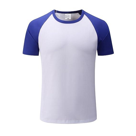 Cayuan Hombre Básico Camiseta de Manga Corta Cuello Redondo Algodón T-Shirt Camisas Tops Deportivas Casual: Amazon.es: Ropa y accesorios