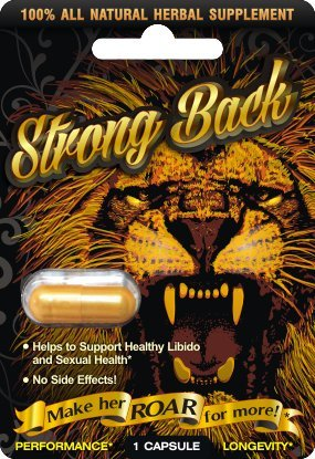 - STRONG BACK Male Enhancement Supplement - Time Size Stamina
