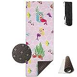 Mermaids Mermaids Pink,Yoga Towel Exercise Mat Non-Slip High Density Waterproof Yoga Mats Fitness