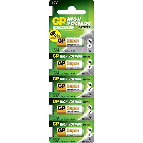 (A23 12V Alkaline 23-A Replacement Battery 23AE GP - 5)