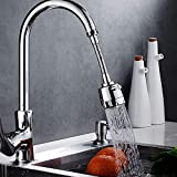 360° Swivel Anti Splash Faucet Sprayer,Stainless Steel Adjustable Splash-Proof Faucet Extender,Kitchen Water-Saving Tap Nozzle Filter Valve Faucet Extension