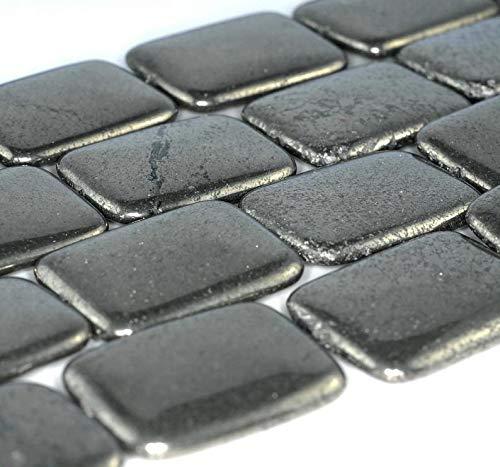 - 40x30mm Iron Pyrite Gemstone Rectangle Loose Beads 8 inch Half Strand (90185942-854)